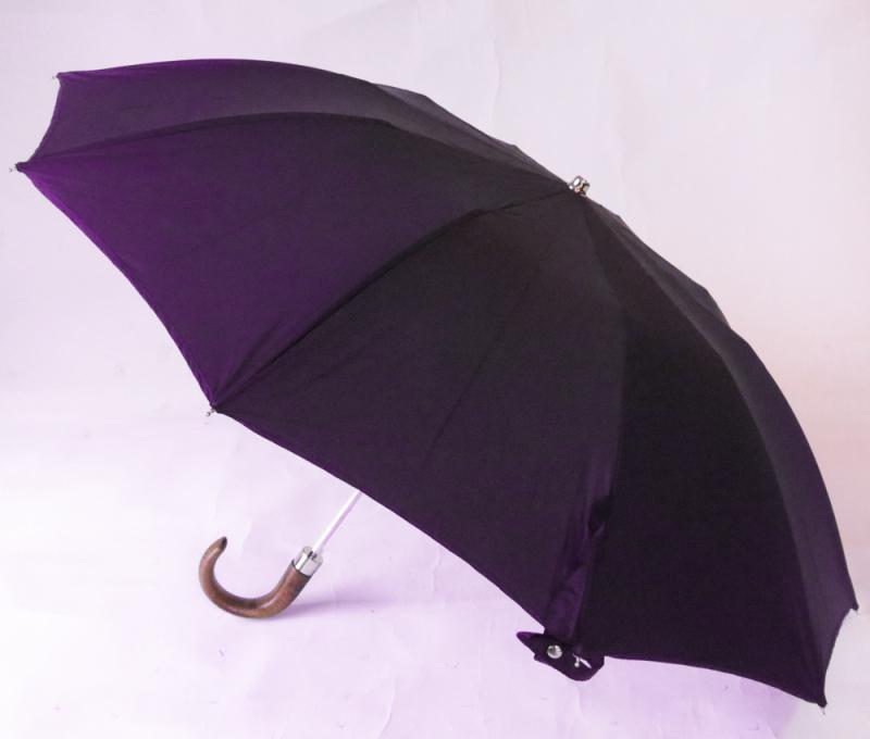 check-out e8127 9d8ba Parapluie pliant homme bleu marine automatique uni 10 ...