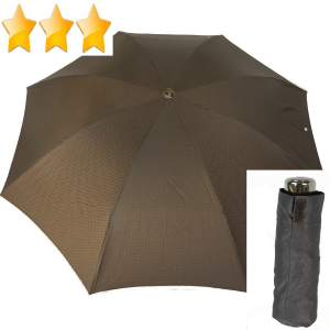 EXCLUSIVITE :  parapluie pliant inversé mini automatique à carreaux chocolat Ezpeleta