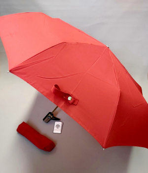 Parapluie mini pliant open close uni rouge Guy de Jean, léger et solide