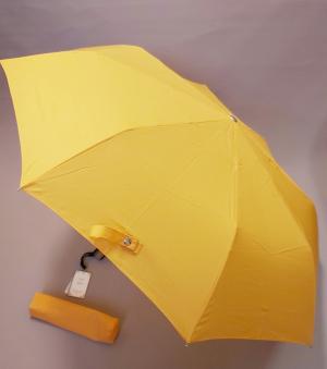 Le Monde du Parapluie 88 cm Parapluie Canne 16 Baleines avec Ouverture Automatique et Anti UV Orange