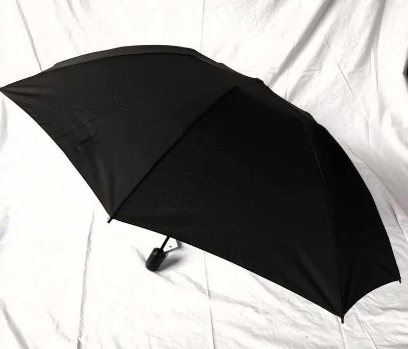 NOUVEAU : Parapluie mini inversé noir pliant open close Magic Crazy Doppler, grand 104 cm et résistant
