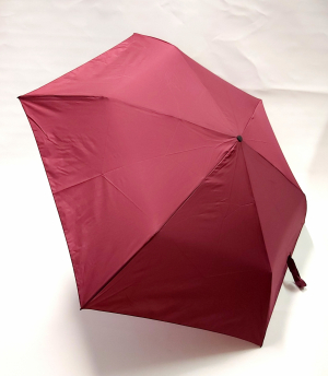 NOUVEAU : le ZERO MAGIC mini parapluie PLUME EXTRA FIN open close bordeaux 176 g Doppler, le plus léger et solide