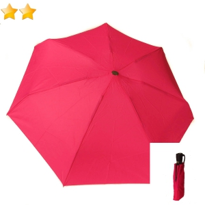 Mini parapluie plat léger open-close fuchsia Guy de Jean