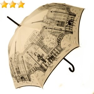 Parapluie long impression la Parisienne