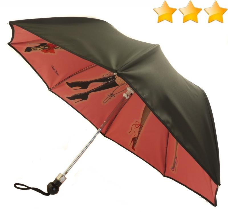exclusivite parapluie pliant chantal thomass noir double. Black Bedroom Furniture Sets. Home Design Ideas