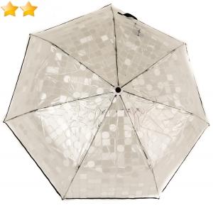 Mini parapluie pliant open-close transparent P. Cardin