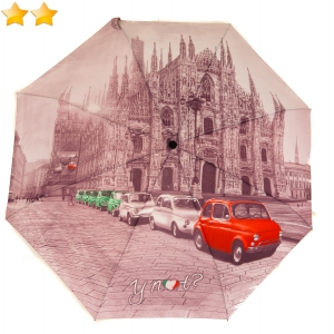 Mini parapluie pliant open-close Cathédrale de Milan Happy Rain