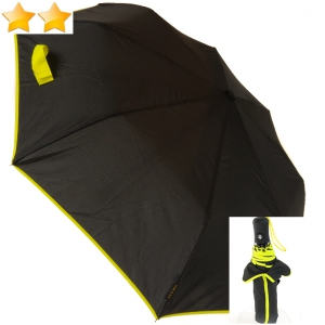Mini parapluie pliant open-close noir bordé anis Smati