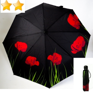 EXCLUSIVITE Mini parapluie pliant open-close coquelicot de Neyrat Autun, léger et solide