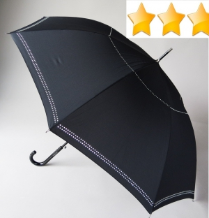 Parapluie long automatique noir strass