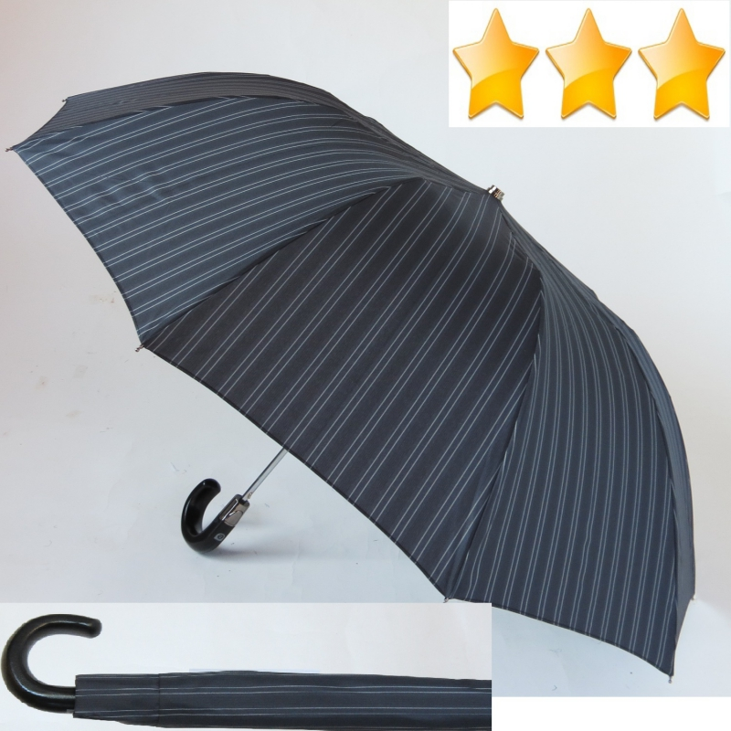 Protection Solaire UPF 50+ Blanc-Bleu EZPELETA Ombrelle et Parapluie Long pour Femme Imprim/é /à Rayures//Marin Manuel avec poign/ée courb/ée