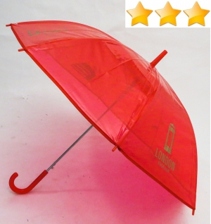 Parapluie enfant transparent rouge monument dore